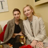 SANTA BARBARA, CA - FEBRUARY 01: Actress's Rooney Mara and Cate Blanchett attend the Moet & Chandon Lounge at The 2014 Santa Barbara International Film Festival at The Arlington Theater on February 1, 2014 in Santa Barbara, California. (Photo by Jason Kempin/Getty Images for Moet & Chandon)